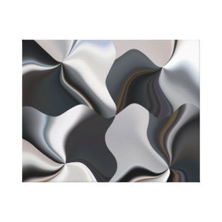 Metallic abstract squares gallery wrap canvas