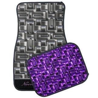 Metallic Abstract Weave Options 1A-1D Car Mat
