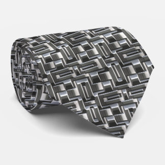 Metallic Abstract Weave Options 1A-1D Neck Tie
