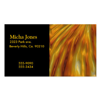 Metallic Amber Waves Of Grain Double-Sided Standard Business Cards (Pack Of 100)