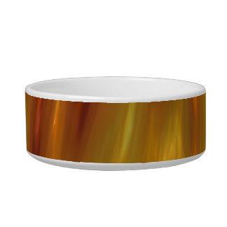 Metallic Amber Waves Of Grain Pet Bowls