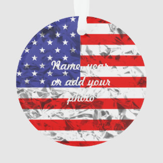 Metallic American Flag Design 2 Ornament