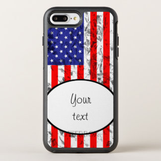 Metallic American Flag Design 2 OtterBox Symmetry iPhone 8 Plus/7 Plus Case