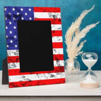 Metallic American Flag Design 2 Plaque