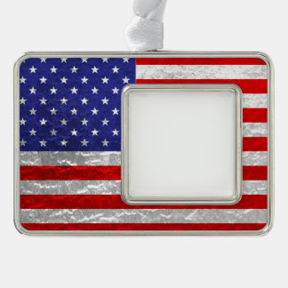 Metallic American Flag Design Ornament