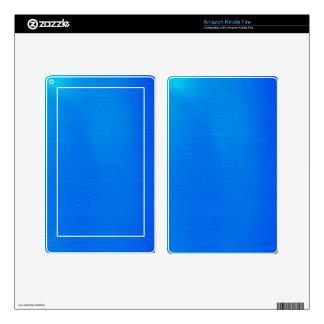 Metallic Aqua Kindle Fire Decals