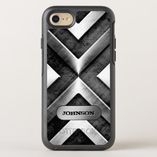 Metallic Armor with Name Plate Military Pattern OtterBox Symmetry iPhone 7 Case