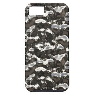 Metallic Art Molten Bubbling Metal Black Seamless iPhone 5 Cover