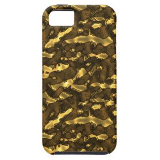 Metallic Art Molten Bubbling Metal Gold Seamless iPhone 5 Cases