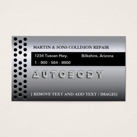 METALLIC AUTO BUSINESS CARD