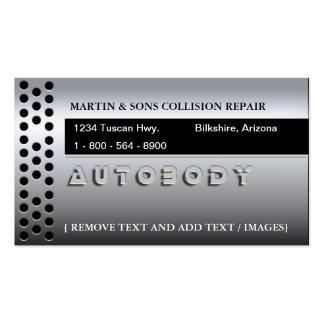 METALLIC AUTO BUSINESS CARD TEMPLATE