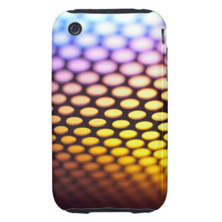 Metallic backlit shinny background iPhone 3 tough cover