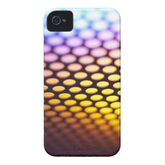 Metallic backlit shinny background iPhone 4 case