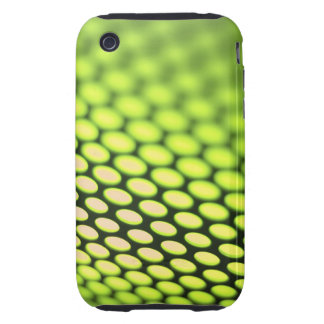 Metallic backlit shinny background tough iPhone 3 cover