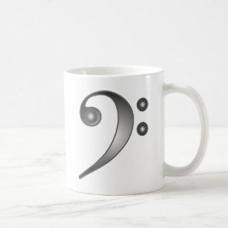 Metallic Bass Clef Coffee Mug
