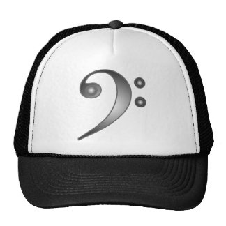 Metallic Bass Clef Trucker Hat