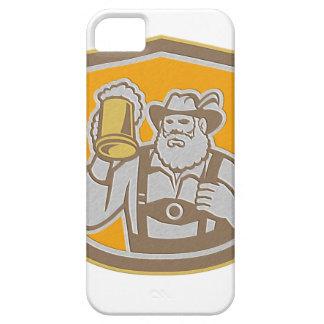 Metallic Bavarian Beer Drinker Mug Shield Retro iPhone 5 Covers