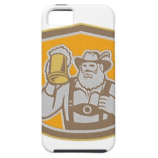 Metallic Bavarian Beer Drinker Mug Shield Retro Case For The iPhone 5