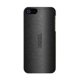 Metallic Black Brushed Aluminum Look Metallic Phone Case For iPhone SE/5/5s