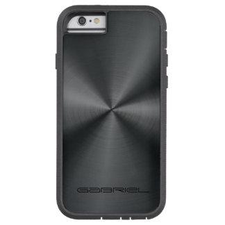 Metallic Black Tones Stainless Steel Look 2 Tough Xtreme iPhone 6 Case