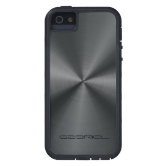 Metallic Black Tones Stainless Steel Look iPhone 5 Cases