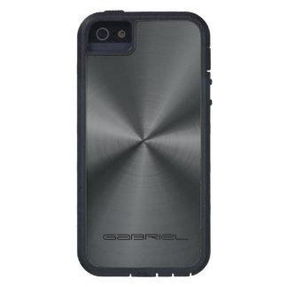 Metallic Black Tones Stainless Steel Look iPhone SE/5/5s Case