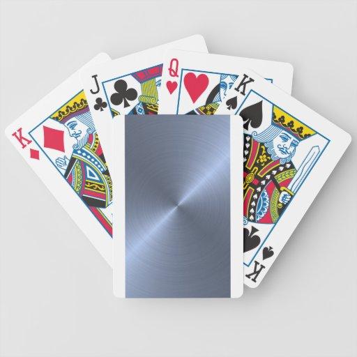 Metallic Blue Bicycle Poker Cards