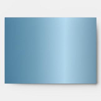 Metallic Blue Chevron 5 x 7 Invitation Envelope