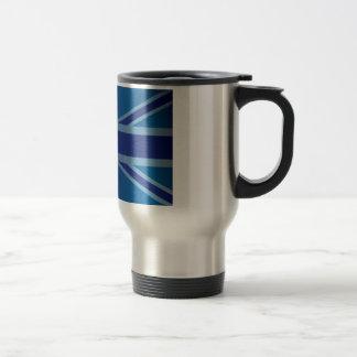Metallic Blue Classic Union Jack British(UK) Flag Coffee Mug