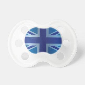 Metallic Blue Classic Union Jack British(UK) Flag Pacifier