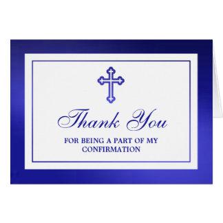Metallic Blue Cross Holy Communion Or Confirmation Card