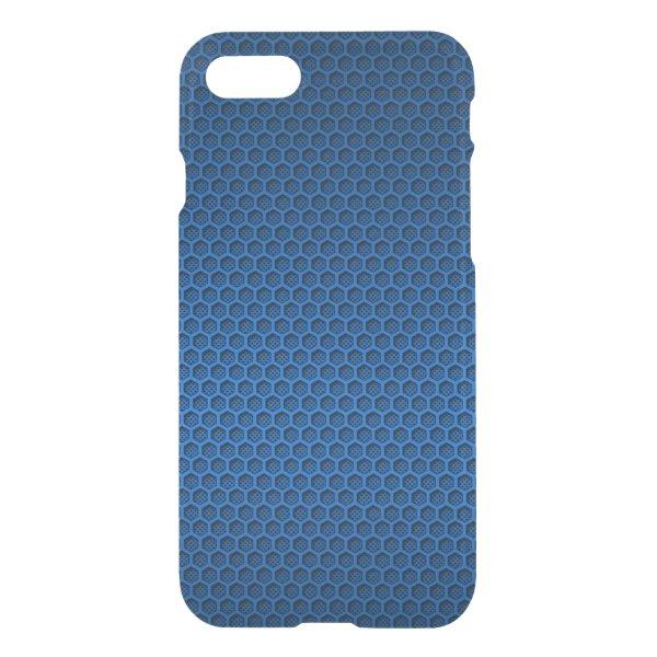 Metallic Blue Graphite Honeycomb Carbon Fiber iPhone 7 Case