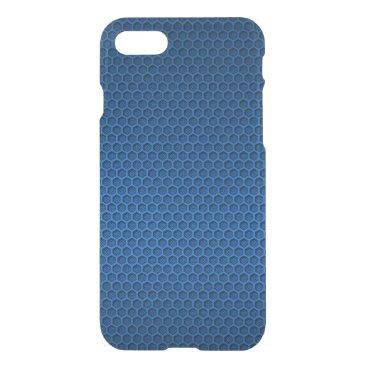 McTiffany Tiffany Aqua Metallic Blue Graphite Honeycomb Carbon Fiber iPhone 8/7 Case