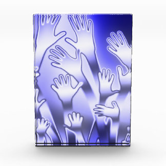 Metallic Blue Helping Hands Award