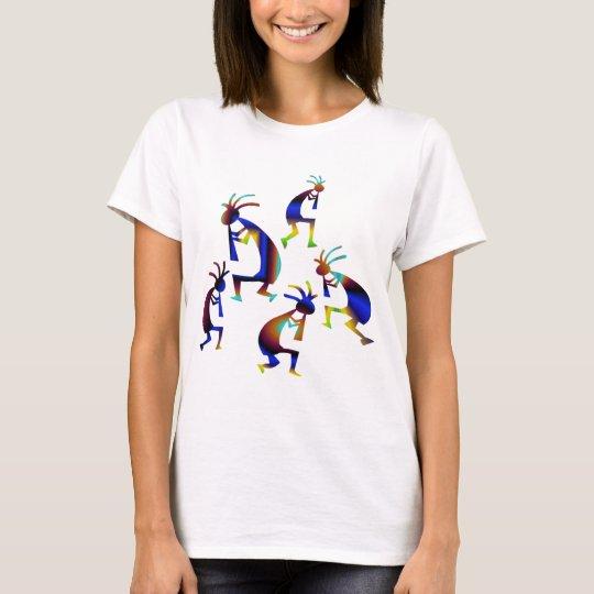 Metallic Blue Kokopelli T-Shirt