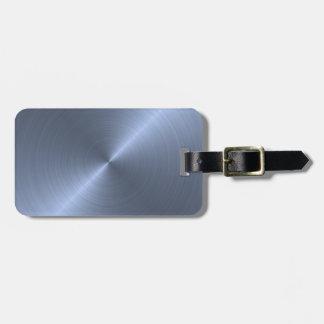 Metallic Blue Luggage Tags