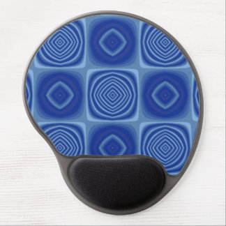 Metallic Blue Pattern Gel Mouse Mats
