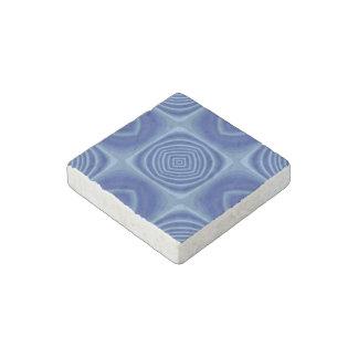 Metallic Blue Pattern Stone Magnet