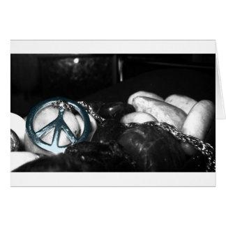 Metallic Blue Peace Symbol Card