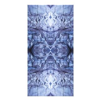 Metallic Blue Photo Greeting Card