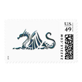 Metallic Blue Sea Dragon Postage Stamps