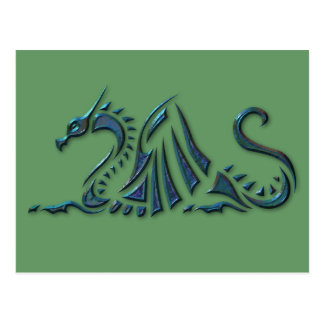 Metallic Blue Sea Dragon Postcard