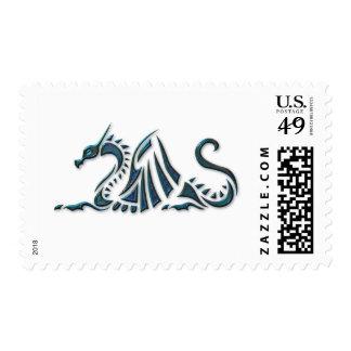 Metallic Blue Sea Dragon Stamp
