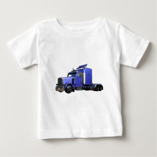 Metallic Blue Semi Truck In Three Quarter View Baby T-Shirt