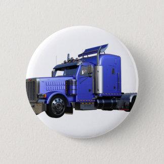 Metallic Blue Semi Truck In Three Quarter View Button