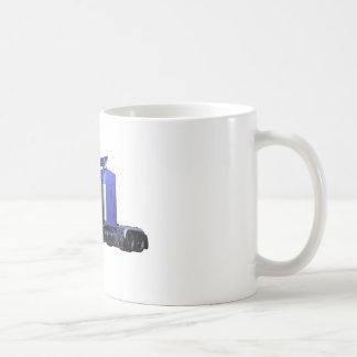 Metallic Blue Semi Truck In Three Quarter View Coffee Mug
