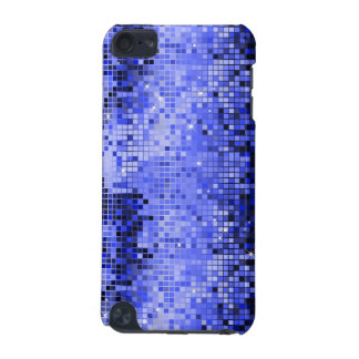 Metallic Blue Sequins Look Disco Mirrors Bling iPod Touch 5G Cover