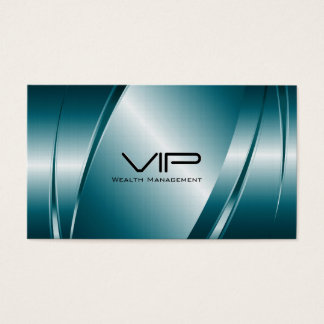 Metallic Blue-Stainless Steel look Business Card