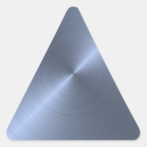 Metallic Blue Triangle Sticker