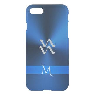 Metallic Blues Zodiac Sign Aquarius iPhone 7 Case